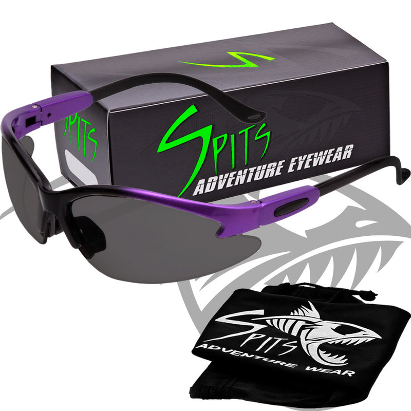 TWO TONED PURPLE/BLACK Safety Glasses, Various Lens Options, including Photochromic