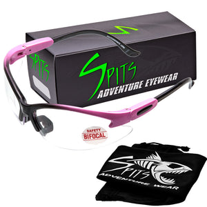 Cougar TWO TONED PINK/BLACK Magnifying Bifocal Safety Glasses