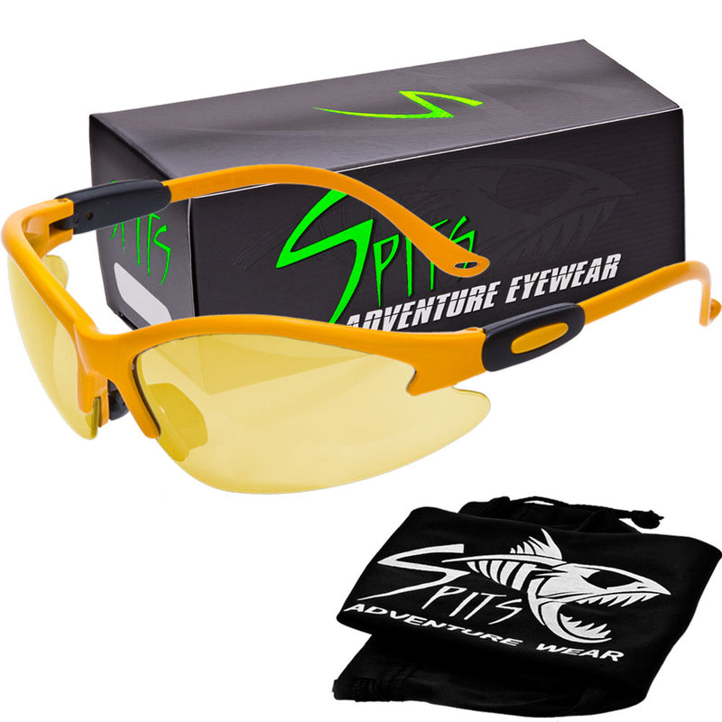 Cougar YELLOW Safety Glasses, Various Lens Options, including Photochromic