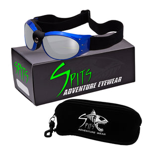 Eliminator Blue Frame - Foam Padded Motorcycle Goggles Various Lens Options