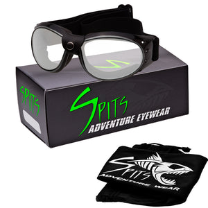Eliminator Black Frame Silver Accented Foam Padded Motorcycle Goggles