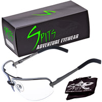 Factor Half Metal Wrap Sports Safety Glasses ANSI Z87.1 OSHA Compliant