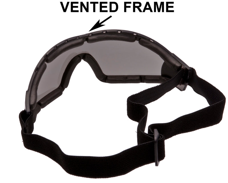 FLARE II Goggles - Advanced System Venting - Vented EVA Foam Padding - Vented Upper Frame - FREE Cleaning/Storage Pouch