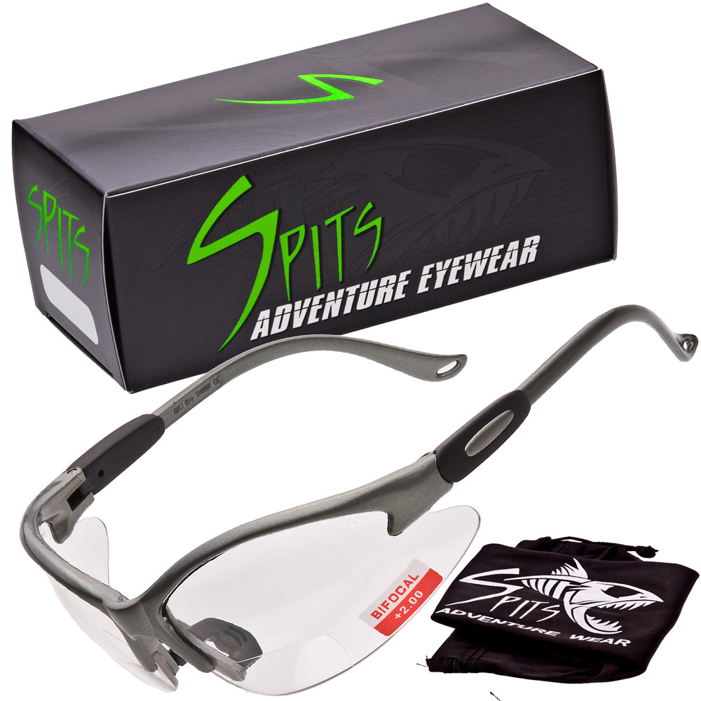 Cougar Bifocal Safety Glasses  -  Gray Frame