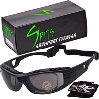 Hardtail Removable Foam Padding Sunglasses, Includes Prescription Adapter