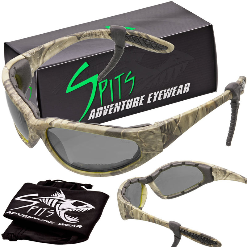 Sharx Forest Camo Frame Polarized Sunglasses with Foam Padded Options