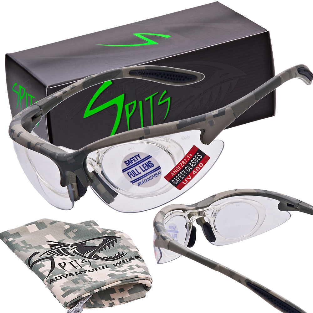 583fdbc96 MAGshot Hunting Shooting Safety Glasses Camo Frame Full Magnifying- Various  Lens and Magnifier Options