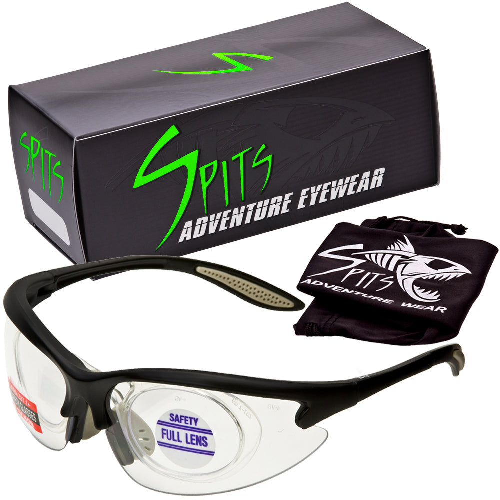 f8d15c3b4c73 MAGshot Hunting Shooting Safety Glasses Black Frame Full Magnifying-  Various Lens and Magnifier Options