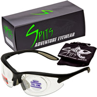 MAGshot Hunting Shooting Safety Glasses Black Frame Full Magnifying- Various Lens and Magnifier Options