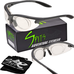 MAGshot Hunting Shooting Safety Glasses Gray Frame Full Magnifying- Various Lens and Magnifier Options