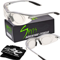 MAGshot Magnifying Hunting Shooting Safety Glasses Silver Frame