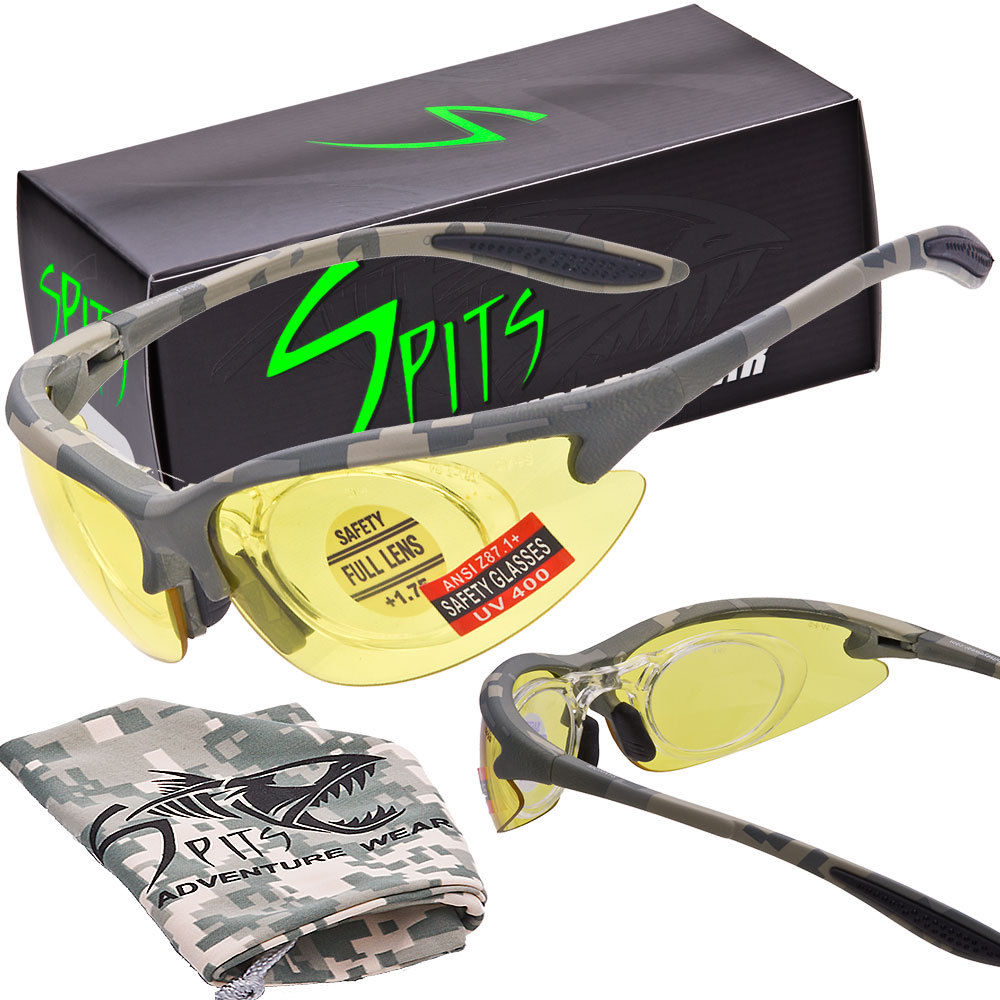 MAGshot Magnifying Hunting Shooting Safety Glasses ACU Camo Frame
