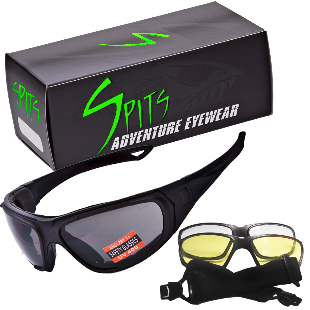 Typhoon Sunglasses Interchangeable Lenses Convert To Goggles