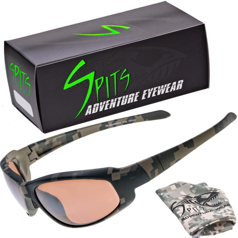 Sniper Camo Safety Rated Sunglasses Various Lens Color and Foam Padding Options