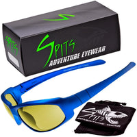 Sniper Blue -  Safety Rated Sunglasses Various Lens Colors, Photochromic and Foam Padding Options
