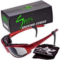 Sniper Red -  Safety Rated Sunglasses Various Lens Colors, Photochromic and Foam Padding Options