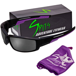 Sly - Foam Padded Sunglasses Purple Accent Various Lens Options