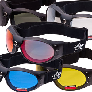 Eliminator Road Warrior NEW Durable Neoprene Foam Padded Motorcycle Goggles