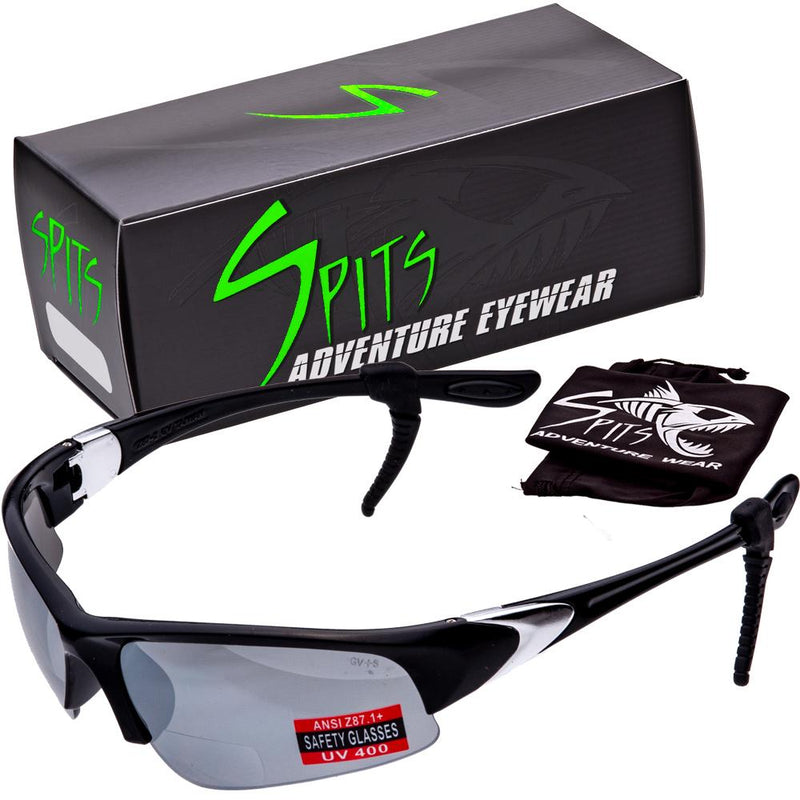 Velo Spec Black Cycling/Running Bifocal Sunglasses - Safety Rated OSHA Compliant
