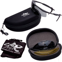VELO-SPEC Sunglasses Kit, 5 Lenses and Hard Case