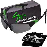 Velo Spec Green Accented Cycling/Running Bifocal Sunglasses - Safety Rated OSHA Compliant