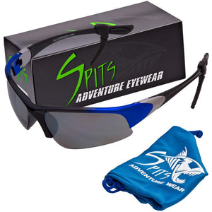 Velo Spec Two Tone Blue Cycling/Running Bifocal Sunglasses - Safety Rated OSHA Compliant