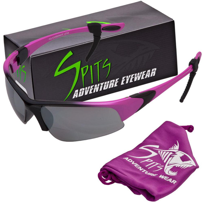 Velo Spec Two Tone Pink Cycling/Running Bifocal Sunglasses - Safety Rated OSHA Compliant