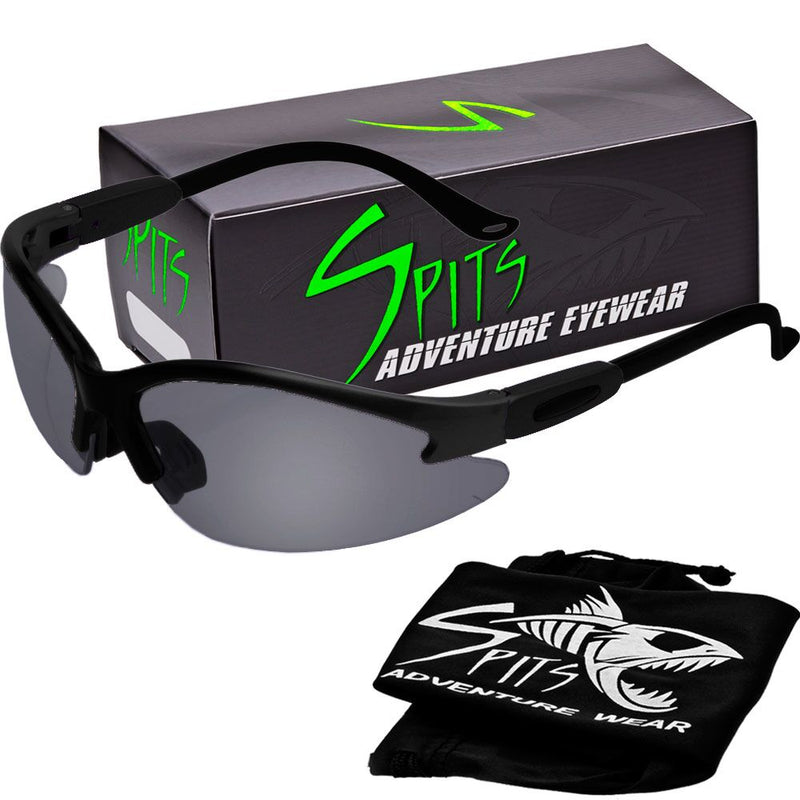 Cougar BLACK Safety Glasses, Various Lens Options, including Photochromic