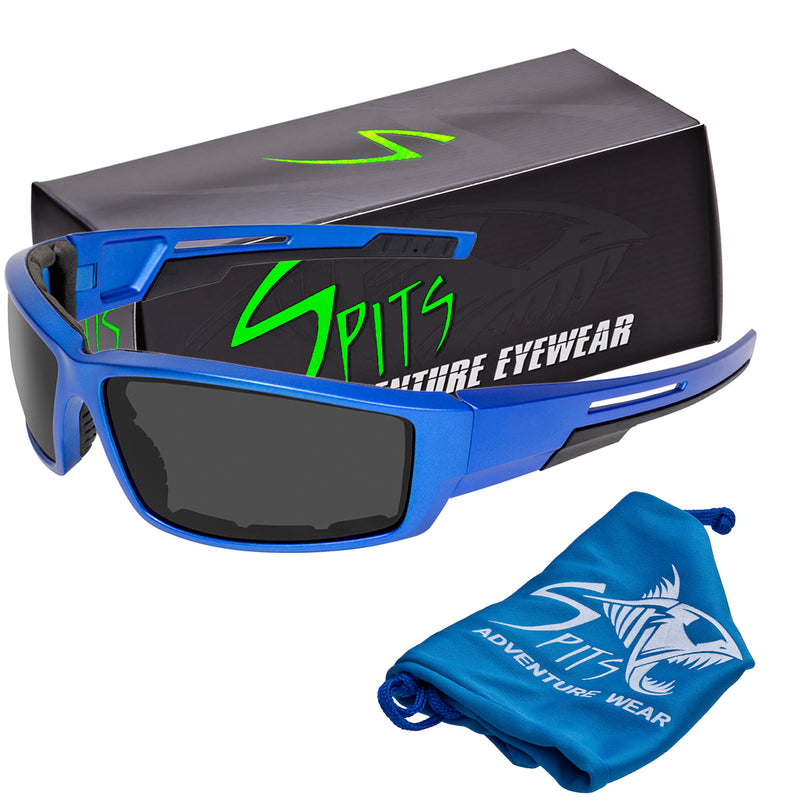 Sly - Foam Padded Sunglasses Blue Frame Various Lens Options