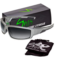 Sly - Foam Padded Sunglasses Silver Frame Various Lens Options