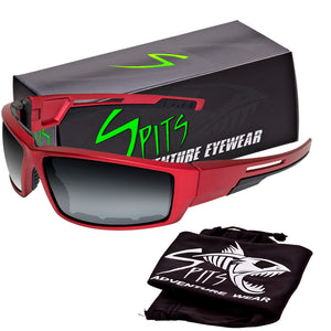 Sly - Foam Padded Sunglasses Red Frame Various Lens Options
