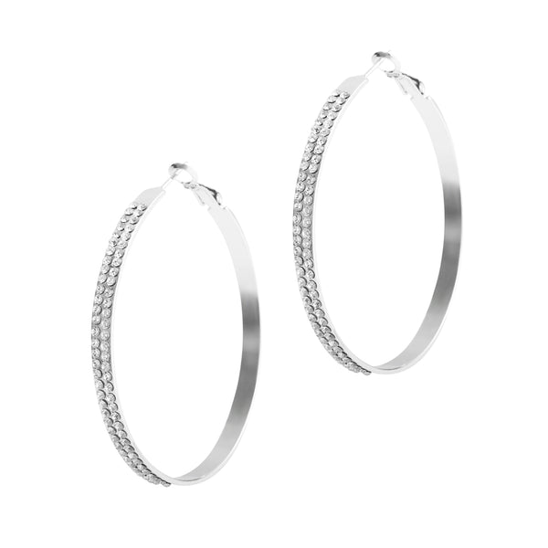 Crystal Diamond Big Hoop Earrings