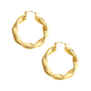 Thick Twisted Hoop Earrings