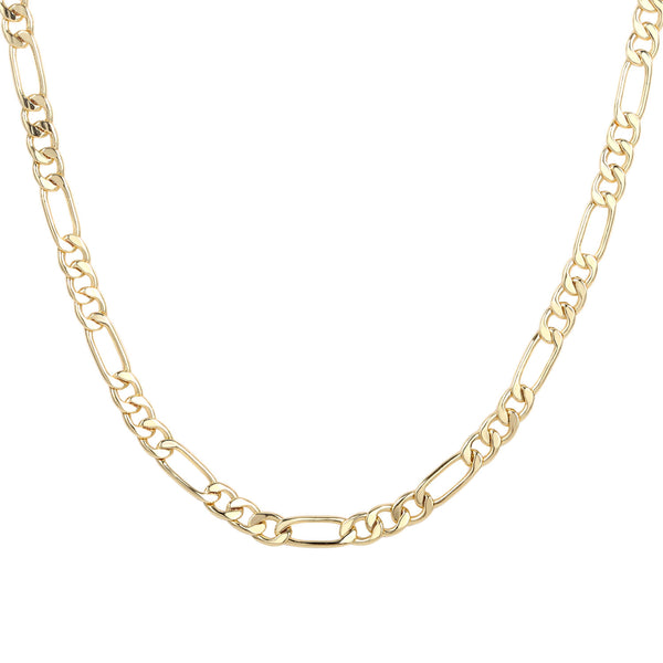 1PC  14K Gold Plated Dainty Figaro Chain Necklace