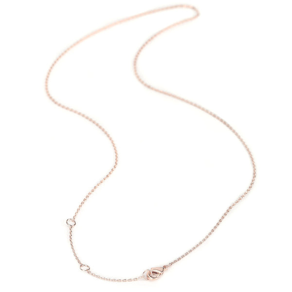 6 PCS 18 Inch 1MM 14K Rose Gold Plated Brass Cable O Chain