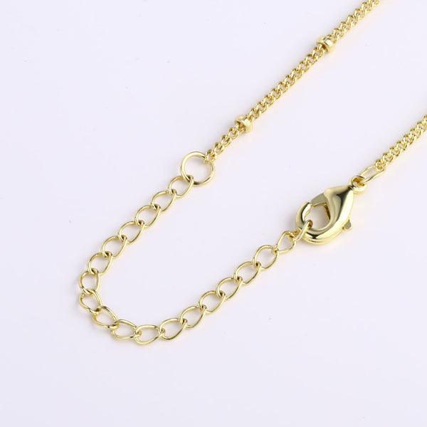 12PCS Gold Color Satellite Chain Bracelet Chain 6.3+2 inches