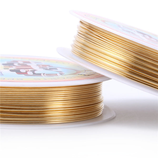 10 Rolls Copper Wire Light Gold Brass Wire