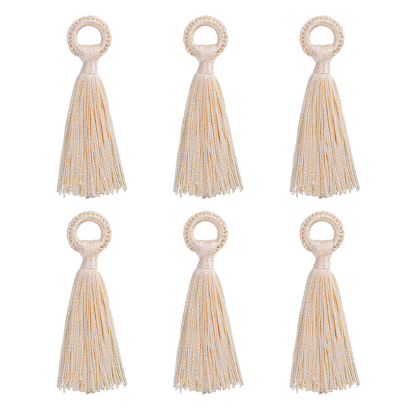 12PCS Large Tassels Handmade Soft Silk DIY Tassels Bulk for Jewelry Making