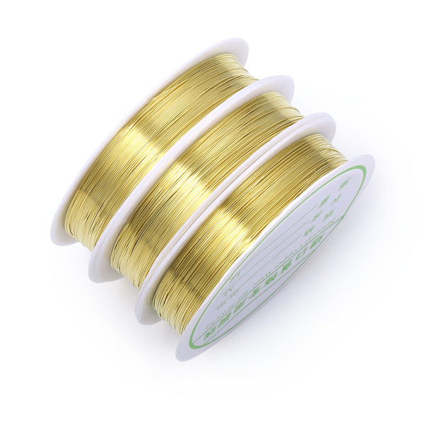 10 Rolls Round Gold Copper Wire 21 Gauge Artistic Wire
