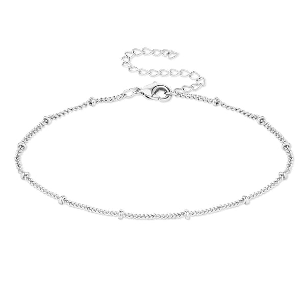 12PCS Silver Color Satellite Chain Bracelet Chain 6.3+2 inches