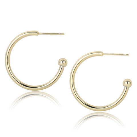 3 Pairs Big Half Open Hoop Earrings