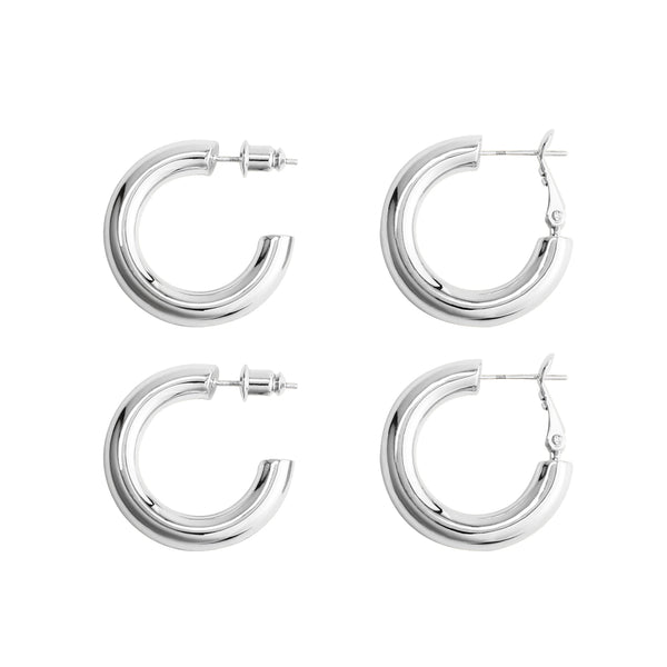 2 Pairs Lightweight Chunky Hoops