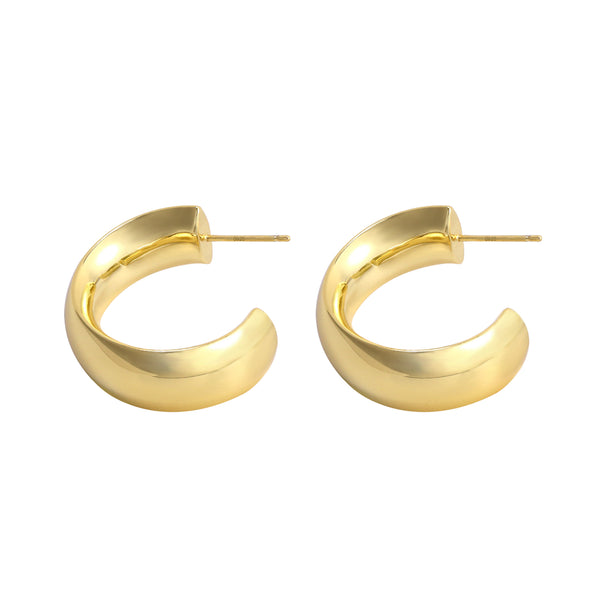 Chunky Open Hoop Earrings