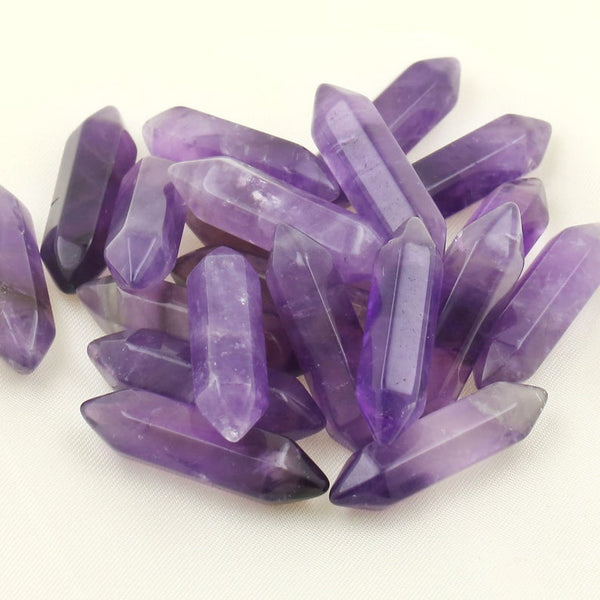 10PCS Hexagonal Natural Amethyst Crystal Quartz