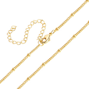 120PCS Gold Plated Solid Brass Adjustable Satellite Curb Chain