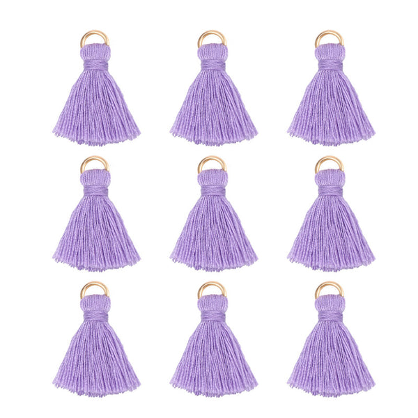 100 PCS Multi Color Cotton Mini Tassel Charms for Jewelry Making