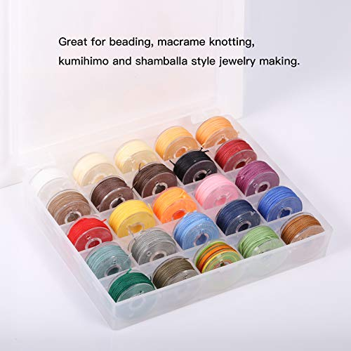 25 Colors Waxed Polyester Twine Cord Macrame Bracelet Thread
