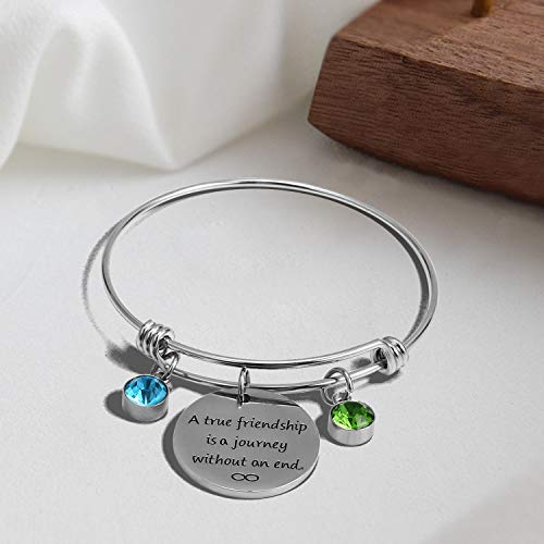 5 PCS Expandable Wire Blank Stainless Steel Bangle with Charms