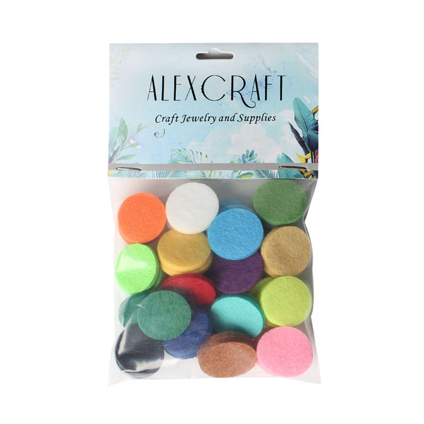 48 PCS 16 colors Oil Pendant Refill Pads Bulk for Oil Diffuser Necklaces