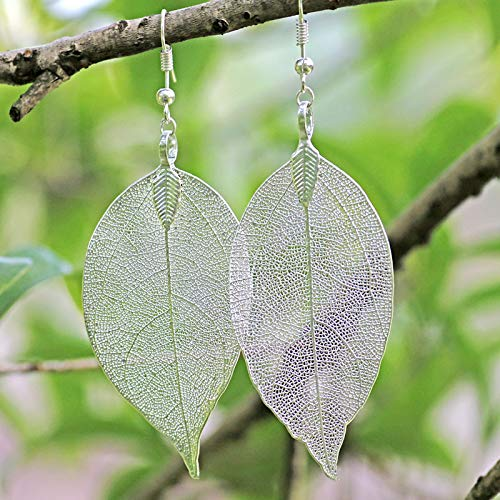 3 Pairs Bulk Natural Leaf Earrings